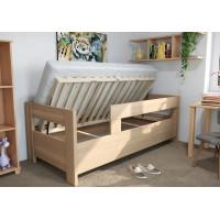 Drevená posteľ Ela s dvoma opierkami a úložným priestorom
