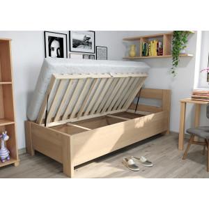 Drevená posteľ Ela s úložným priestorom