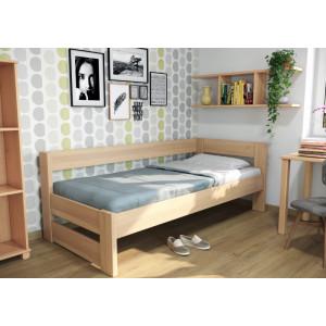 Drevená posteľ Ela s opierkou
