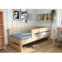 Drevená posteľ Ela s dvoma opierkami