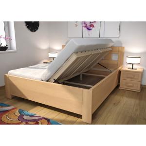 Drevená posteľ Erika s úložným priestorom
