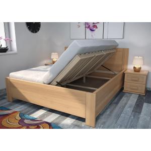 Drevená posteľ Ivana s úložným priestorom