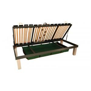 Lamelová posteľ Klasik 4 s výklopom