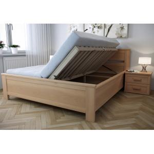 Drevená posteľ Laura s úložným priestorom