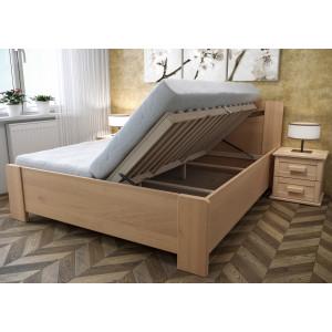 Drevená posteľ Linda s úložným priestorom