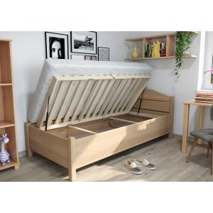Drevená posteľ Maria s úložným priestorom