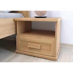 Drevený nočný stolík Laura-jednozasuvkový