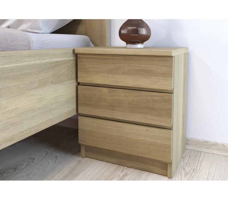 Dubový nočný stolík Lea