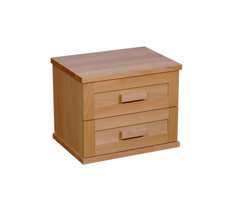 Drevený nočný stolík Laura-dvojzasuvkový