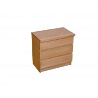 Drevený nočný stolík Lea - trojzasuvkový