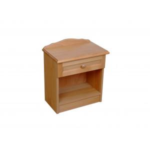 Drevený nočný stolík Vanesa-jednozásuvkový