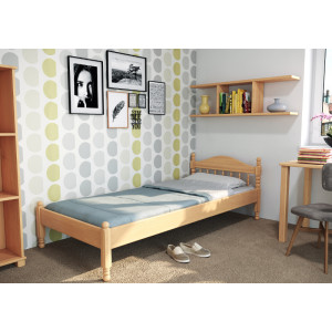 Drevená posteľ Zuzana -nízke čelo