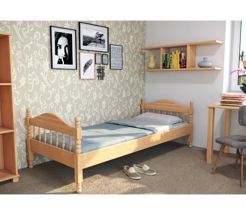 Drevená posteľ Zuzana-vysoké čelo