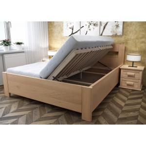 Drevená posteľ Romana s úložným priestorom
